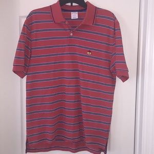 Brooks Brothers Polo. Blue Striped. Size M.